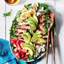 <p>Try this satisfying salad recipe for an updated version of the classic Cobb. Kale, feta and strawberries give this chicken salad a colorful upgrade.</p>