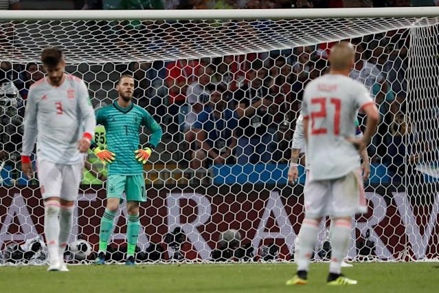 Spain's Gerard Pique says Cristiano Ronaldo has a 'habit of throwing himself to the ground' after Portugal penalty