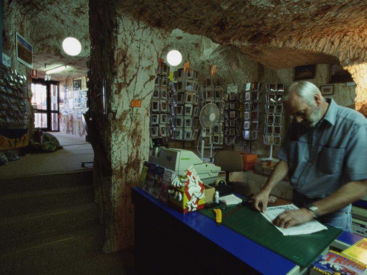 A bookstore in Coober Pedy.