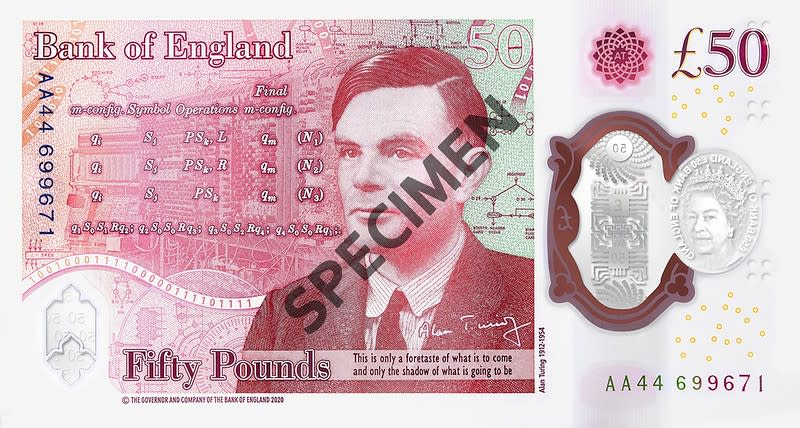 The new £50. Photo: Bank of England
