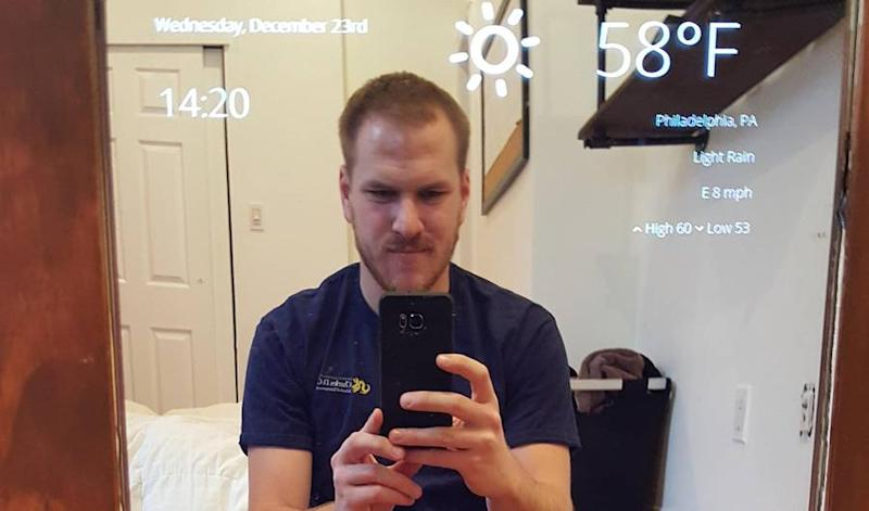 This Dude's Real-Life Magic Mirror Is Absolutely Genius
