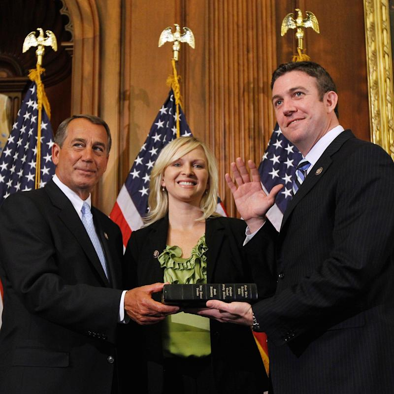 Duncan Hunter(R) with wife Margaret - AP