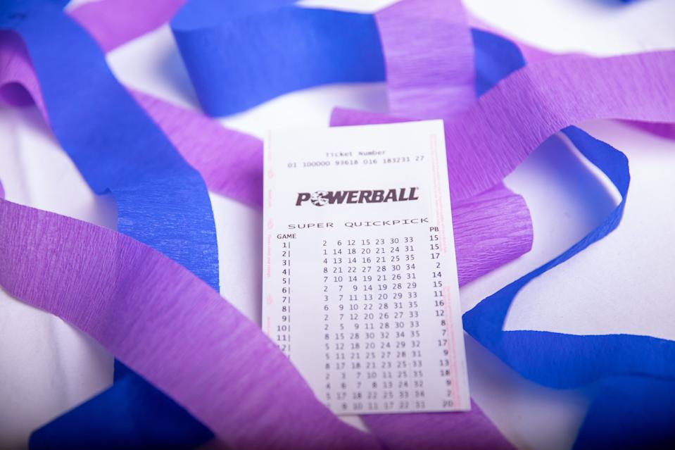 A Powerball Quickpick ticket. The odds of winning the Division One jackpot is 134 million to 1. Source: The Lott
