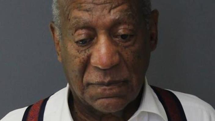 Bill Cosby is shown in his Eagleville, Pennsylvania mugshot in 2018, when he was sentenced to three-to-10 years for sexual assault. (Photo by Montgomery County Correctional Facility via Getty Images)