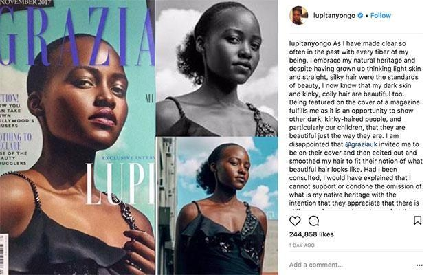 The actress took to social media to show the original cover. Source: Instagram