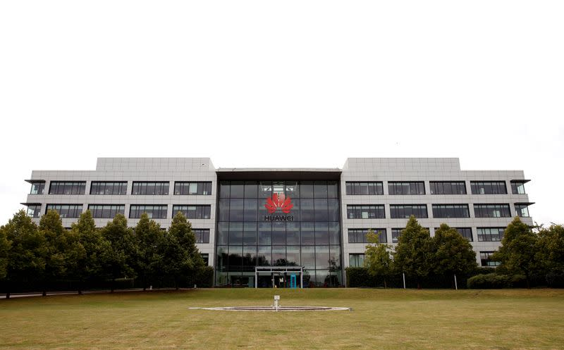 FILE PHOTO: Huawei headquarters building is pictured in Reading