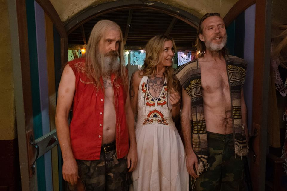 """Otis Firefly (Bill Moseley, left), Baby Firefly (Sheri Moon Zombie) and Winslow Foxworth Coltrane (Richard Brake) are up to no good in Rob Zombie's horror film """"3 From Hell."""""""
