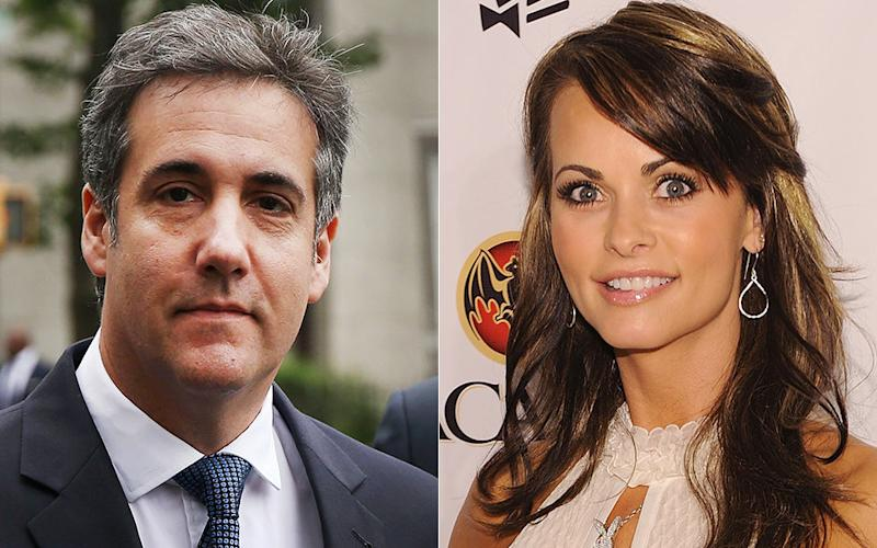 Michael Cohen, a longtime personal attorney to President Donald Trump, is reported to have secretly recorded Trump discussing a payment to former Playboy model Karen McDougal, right.