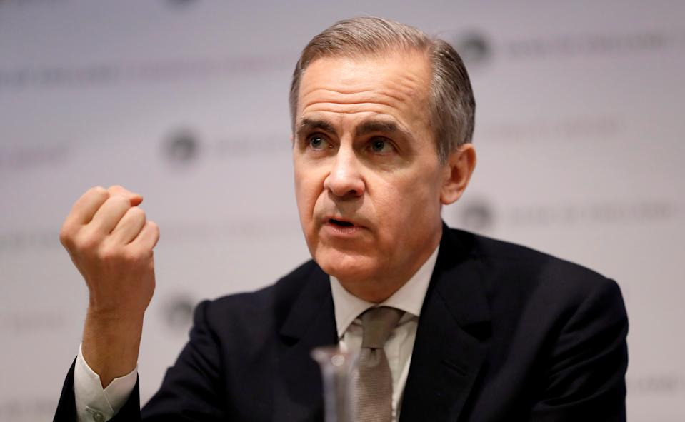 Mark Carney, Governor of the Bank of England speaks at a Bank of England Financial Stability Report news conference in London, Britain December 16, 2019. Kirsty Wigglesworth/Pool via REUTERS