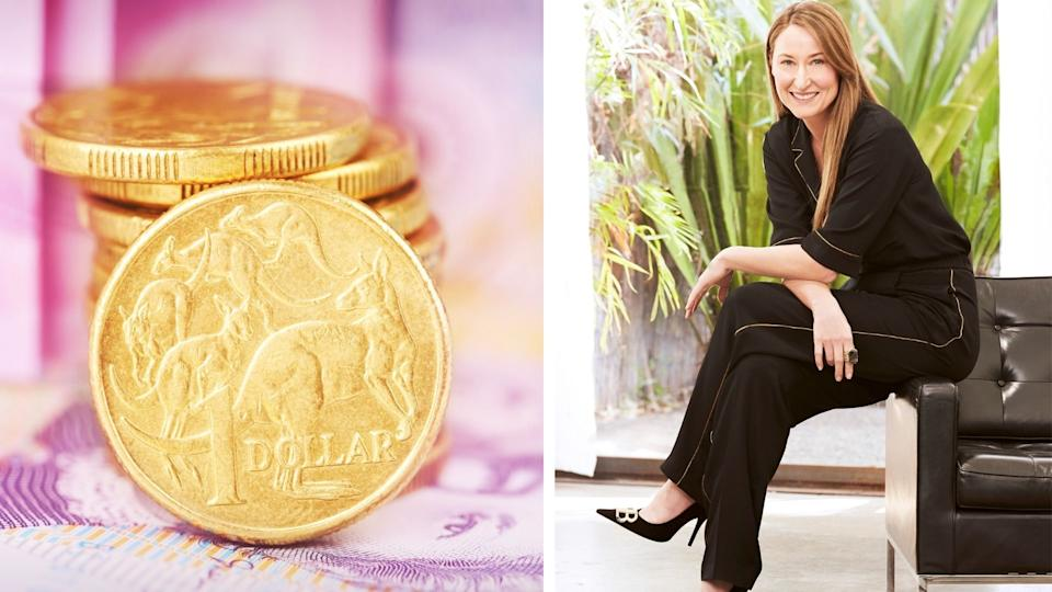 Melissa Browne, image of gold coins.