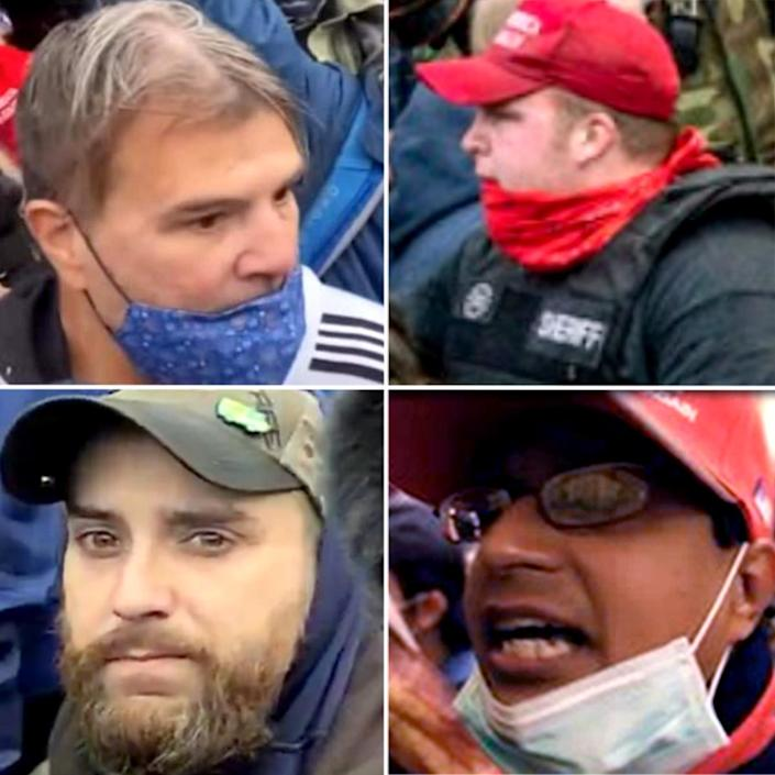 IMAGE: Suspects sought by the FBI in the Capitol riot (FBI)
