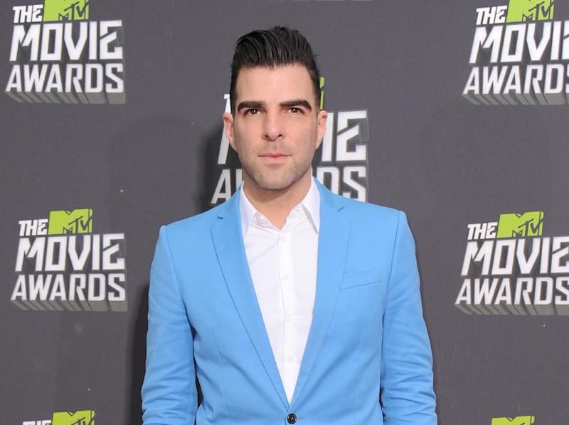 "FILE - This April 14, 2013 file photo shows actor Zachary Quinto  at the MTV Movie Awards in Sony Pictures Studio Lot in Culver City, Calif. Producers Jeffrey Richards said Thursday Quinto will star in the American Repertory Theater's production of ""The Glass Menagerie""  for a 17-week engagement starting this September. Quinto, who plays Spock in the ""Star Trek"" reboots and wowed audiences in a recent off-Broadway production of ""Angels In America,"" will be making his Broadway debut as Tom. (Photo by Jordan Strauss/Invision/AP)"