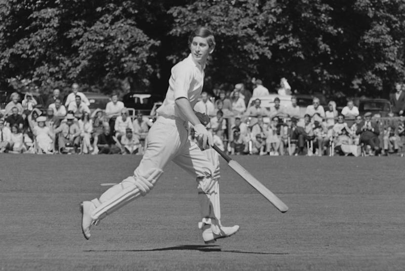 Prince Charles playing cricket in 1968 (Getty Images)