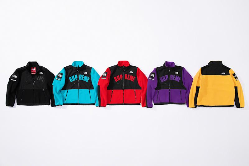 supreme, north face, spring '19, fleece