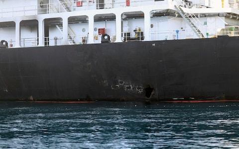 <span>Iran continues to deny it was behind the second spate of attacks on tankers passing through the Strait of Hormuz</span> <span>Credit: US Department of Defense </span>