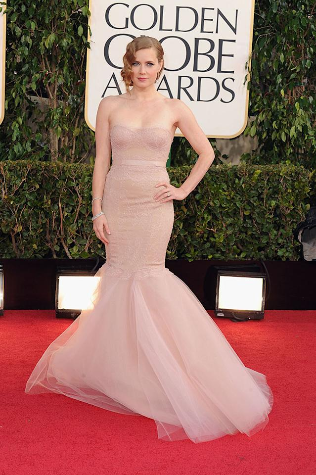 Amy Adams arrives at the 70th Annual Golden Globe Awards at the Beverly Hilton in Beverly Hills, CA on January 13, 2013.