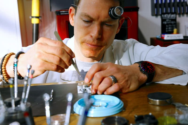 Former Swiss soccer player Lichtsteiner starts training as watchmaker in Zurich
