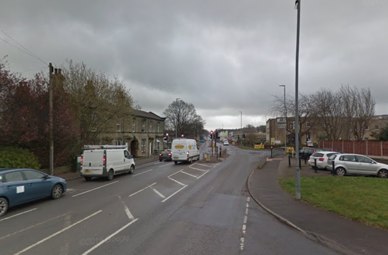 The crash took place on Bradford Road in Cleckheaton. (Google)