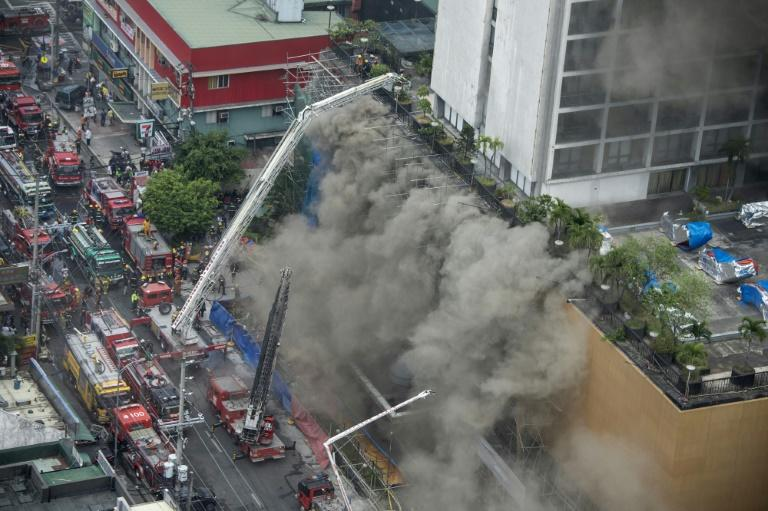 Firefighters said heavy plumes of smoke hampered their rescue efforts