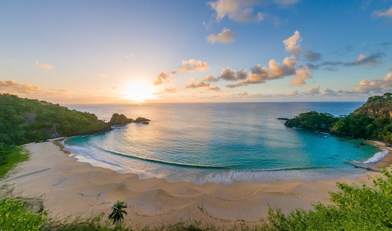 """The lush Brazilianjungle stretches almost to the coast, giving <a href=""""https://www.tripadvisor.com/Attraction_Review-g616328-d2391494-Reviews-Baia_do_Sancho-Fernando_de_Noronha_State_of_Pernambuco.html"""" target=""""_blank"""">Baia do Sancho</a> itsnoteworthy stunning landscape.<br /><strong><br />Nearby beachfront hotel:</strong><a href=""""https://www.tripadvisor.com/Hotel_Review-g616328-d1984547-Reviews-Beco_de_Noronha_Pousada-Fernando_de_Noronha_State_of_Pernambuco.html"""" target=""""_blank"""">Beco de Noronha Pousada</a>, from $297 per night"""