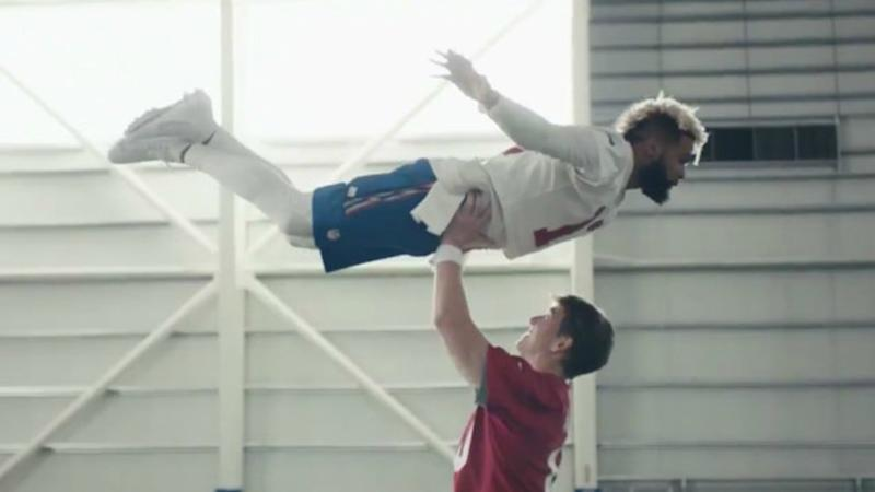 Eli Manning and Odell Beckham Jr Star In Hilarious 'Dirty Dancing' Tribute Ad During the Super Bowl LII