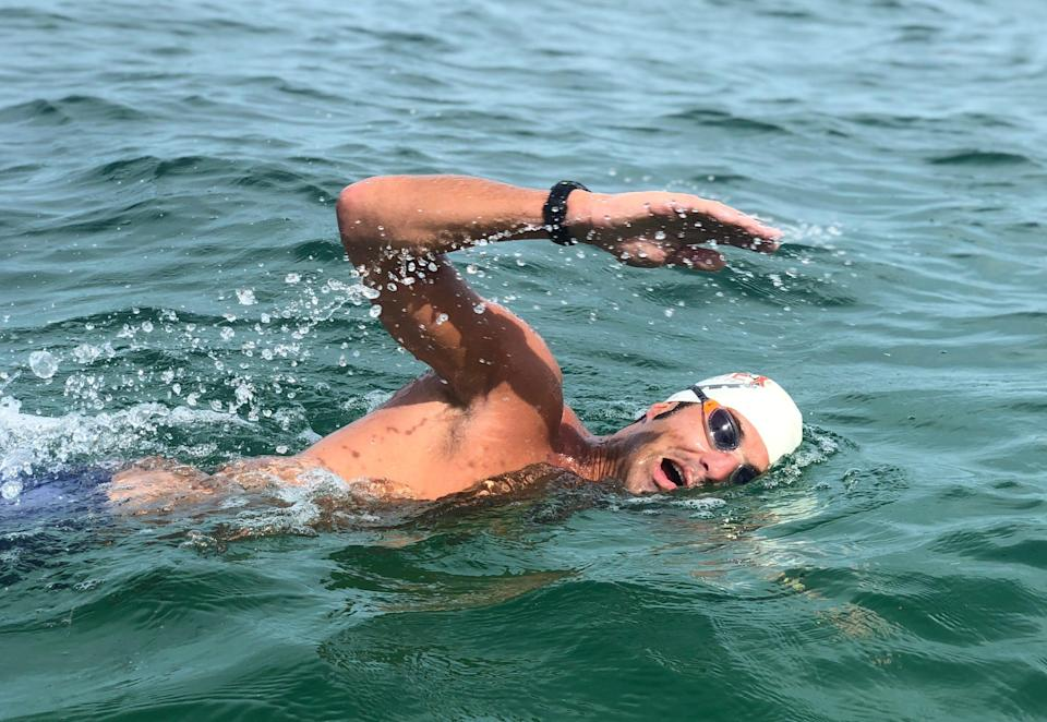 Ben Tuff will swim from Block Island to Jamestown on July 31 to raise money for Clean Ocean Access.