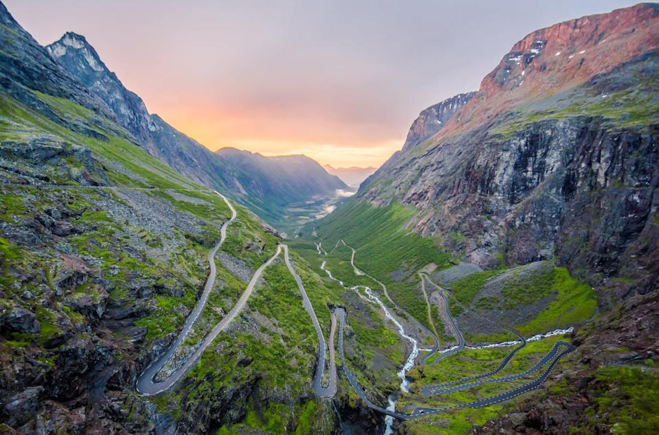 <p>This winding road in Norway is one of the most spectacular manmade views in the country. </p>