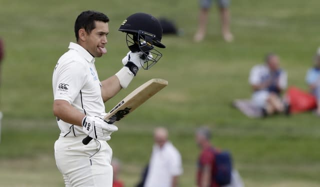 Ross Taylor moved past 7,000 Test runs during his innings (Mark Baker/AP)