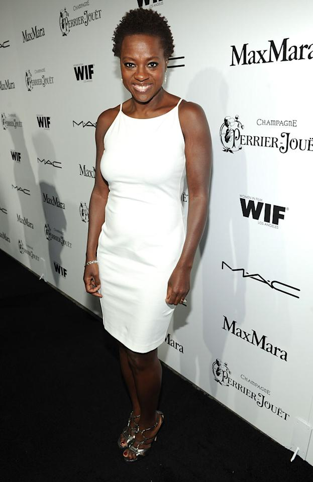 Viola Davis attends the 6th Annual Women In Film Pre-Oscar Party hosted by Perrier Jouet, MAC Cosmetics and MaxMara at Fig & Olive on February 22, 2013 in Los Angeles, California.