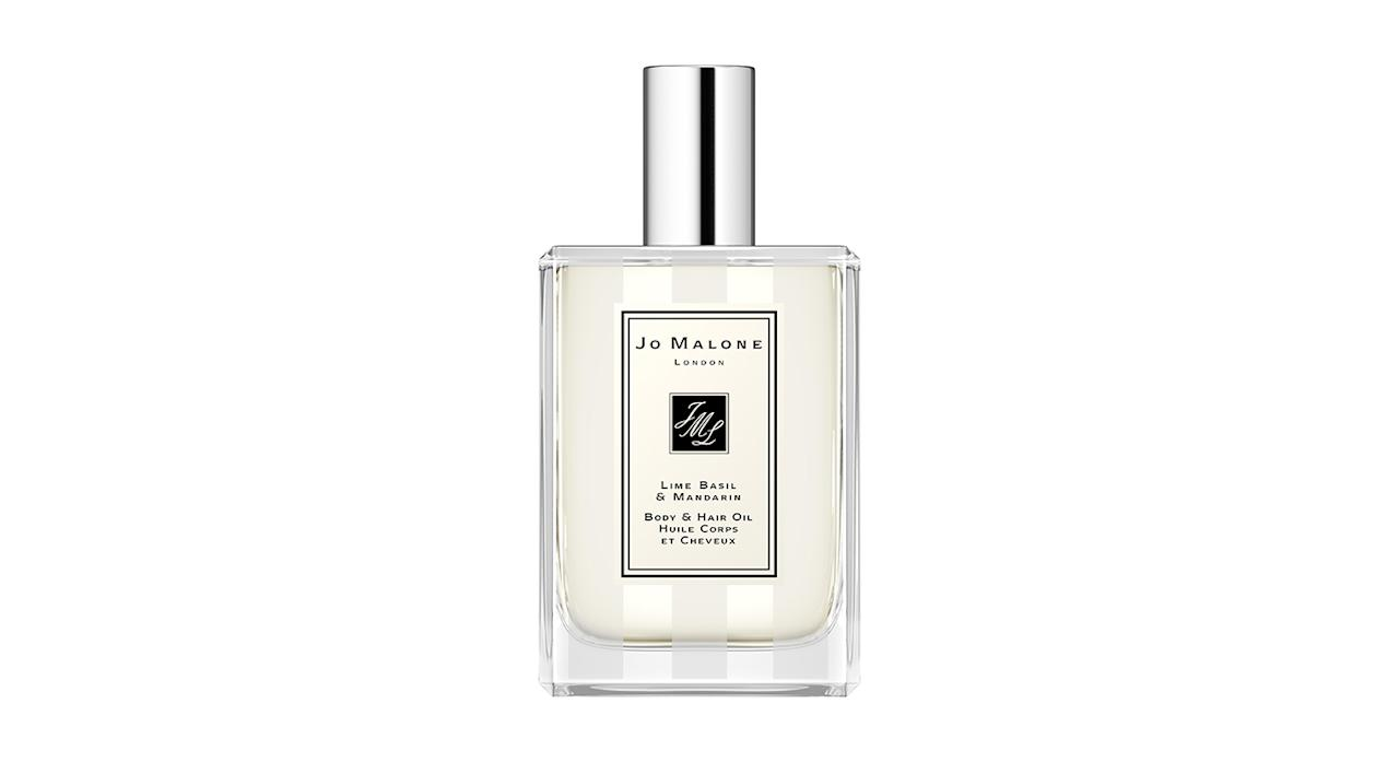 <p>Beautifully scented with Jo Malone's signature scent – Lime Basil and Mandarin – this lightweight body and hair oil is just what you don't know you've been craving. Perfect for conditioning post-shower, it's an ideal way to scent yourself while giving your locks and skin some love. </p>