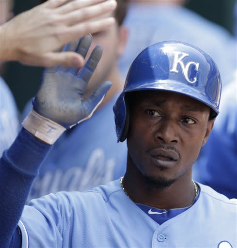 Dyson sends Royals to scrappy 4-3 win over A's