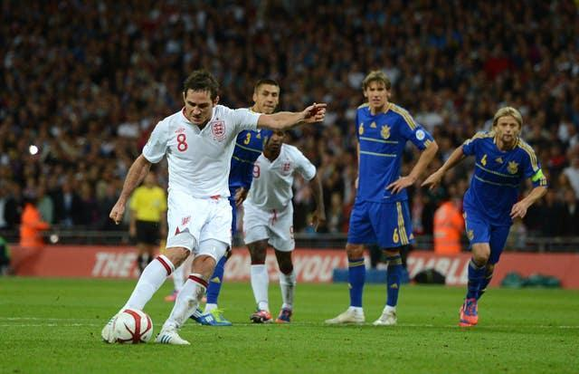Frank Lampard's penalty secured a 1-1 draw at Wembley in September 2012 (Anthony Devlin/PA).