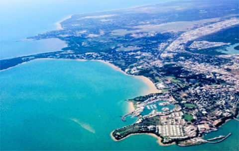 An aerial view as we arrive in Darwin. Photo: Cristal Bettany for Total Travel