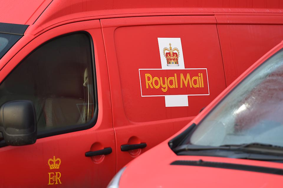 Royal Mail vans at Nottingham Mail Centre which will process more than 2.8 million items of post on their busiest day of the year.