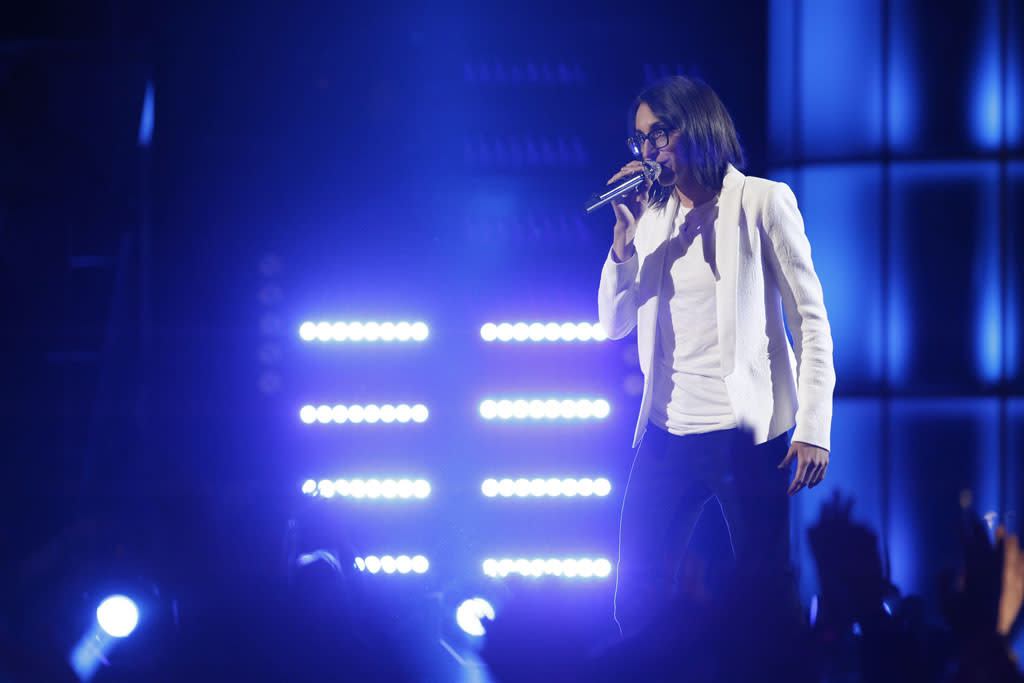 "Michelle Chamuel performs ""Time After Time"" on the ""Live Semi-Final Performances"" episode of ""The Voice"" Season 4."