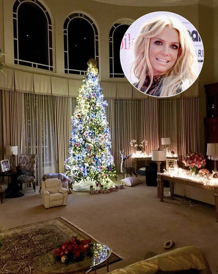"<p>This is how Britney does Christmas, y'all! The tree is not one to go unnoticed, just like the pop star. (Photo: <a rel=""nofollow"" href=""https://www.instagram.com/p/BcGdujHF8WU/?hl=en&taken-by=britneyspears"">Britney Spears via Instagram</a>) </p>"