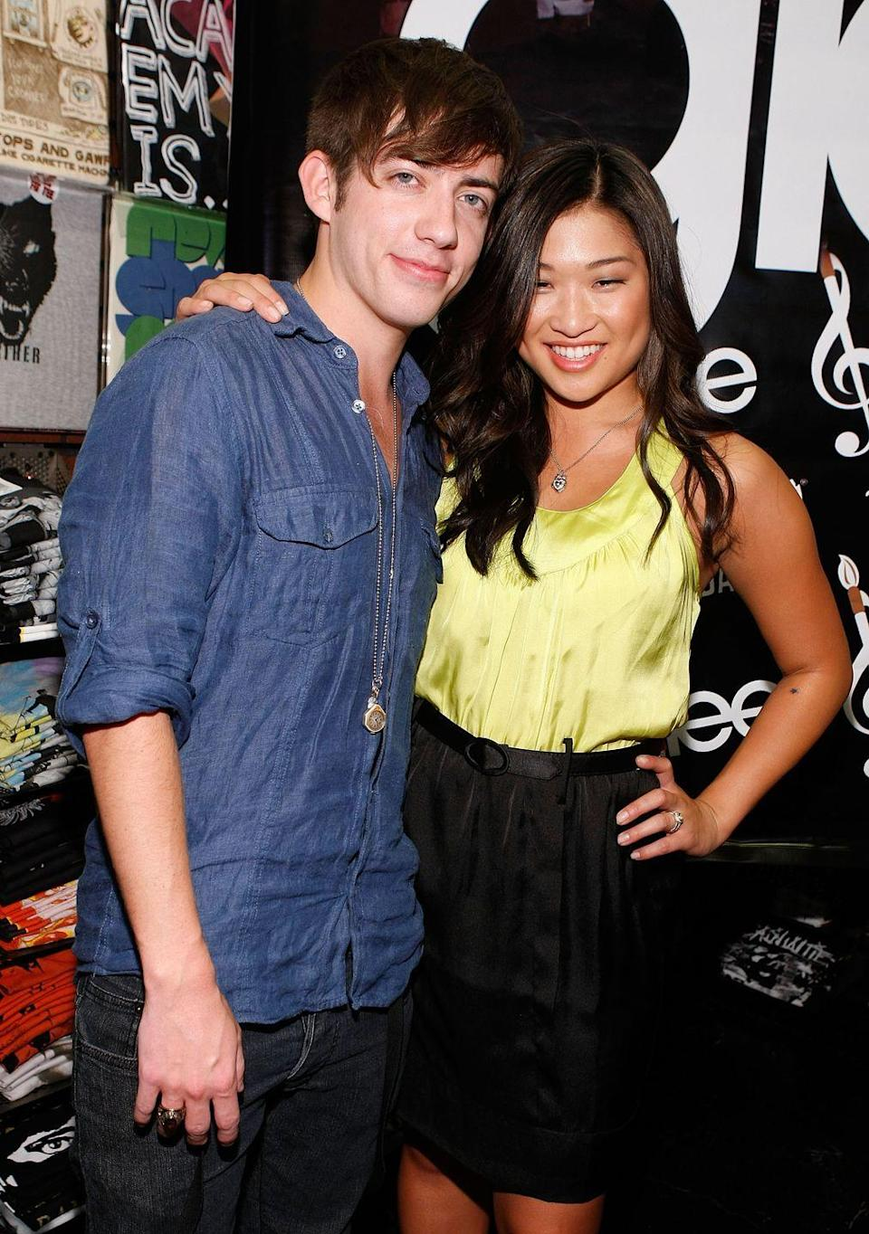 """<p><a href=""""https://glee.fandom.com/wiki/Jenna_Ushkowitz"""" rel=""""nofollow noopener"""" target=""""_blank"""" data-ylk=""""slk:Jenna Ushkowitz and Kevin McHale were roommates"""" class=""""link rapid-noclick-resp"""">Jenna Ushkowitz and Kevin McHale were roommates</a> while working on <em>Glee</em>, and they often hosted cast parties. The two are still working together, too. They have a podcast called <em><a href=""""https://www.podcastone.com/showmance-with-kevin-mchale-and-jenna-ushkowitz"""" rel=""""nofollow noopener"""" target=""""_blank"""" data-ylk=""""slk:Showmance"""" class=""""link rapid-noclick-resp"""">Showmance</a></em>.</p>"""