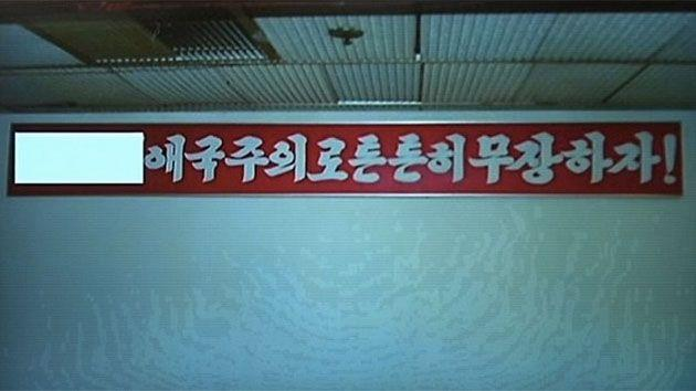 The glorified slogan has been described by his son and successor, Kim Jong Un, as the