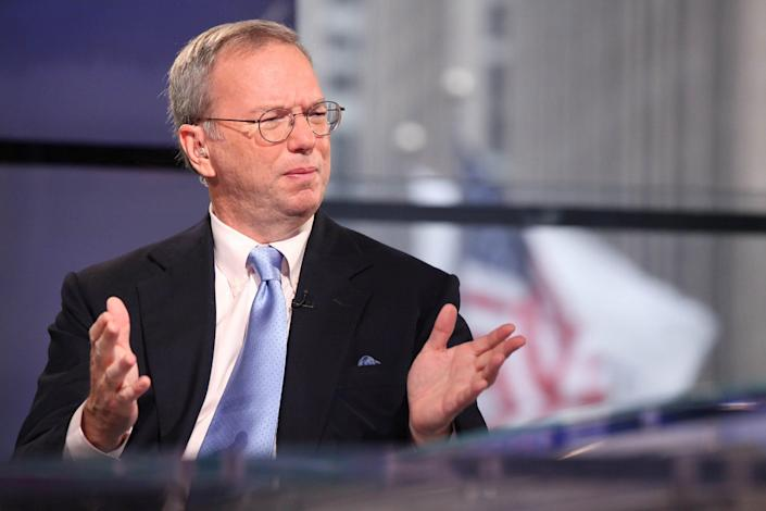 Eric Schmidt looks unhappy