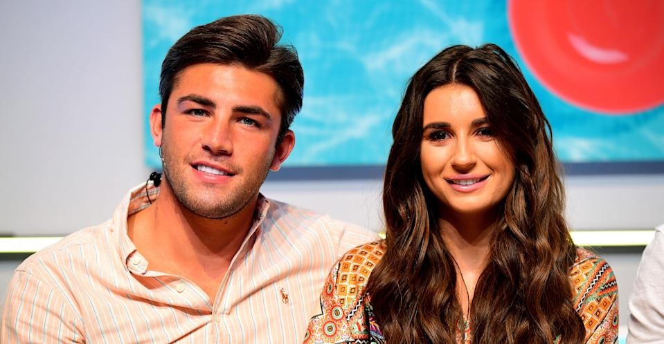 The former Love Island couple during happier times. (PA Images)