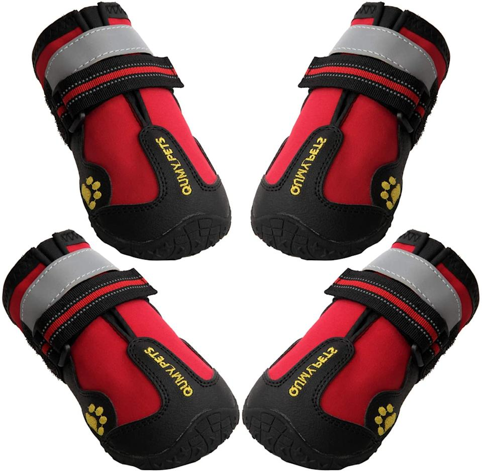QUMY Dog Boots Waterproof Shoes for Large Dogs - available on Amazon.