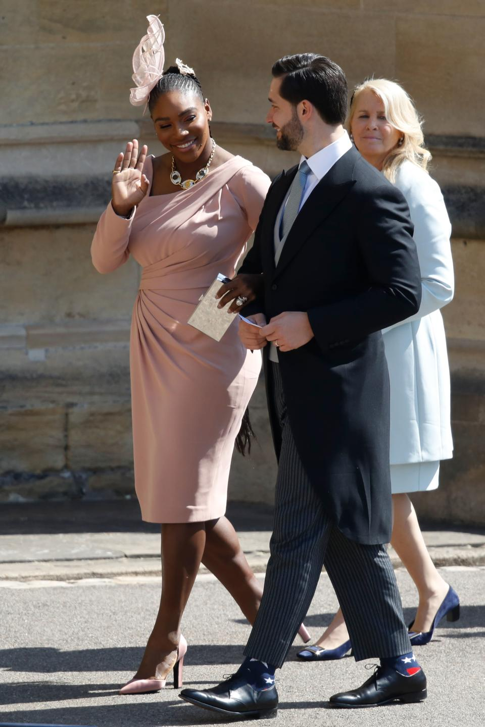 <p>The 36-year-old tennis player, wearing Versace, has reportedly known Meghan since 2010, when they met at the Superbowl. <em>[Photo: Getty]</em> </p>
