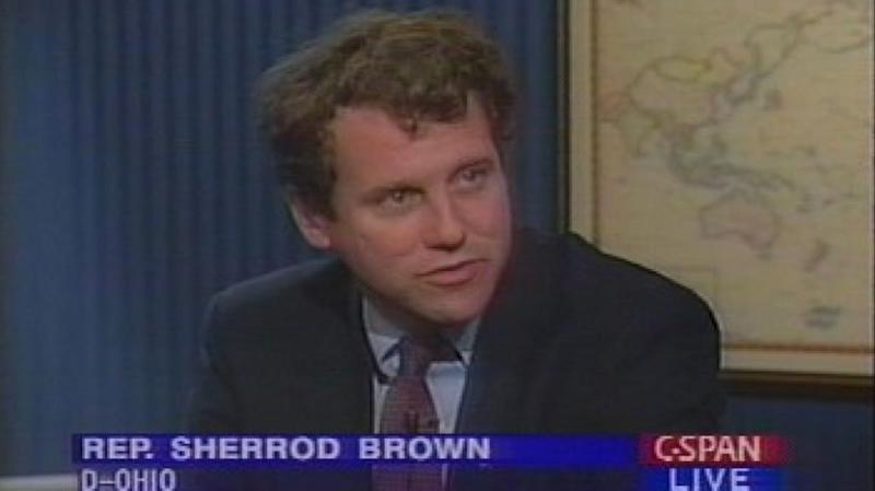 Rep. Sherrod Brown (D-OH), now a US Senator, appears on CSPAN in 1993 to voice his opposition to NAFTA.