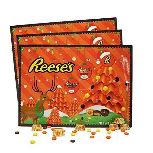 """<p><strong>Reese's Advent Calendar</strong></p><p>amazon.com</p><p><strong>$44.00</strong></p><p><a href=""""https://www.amazon.com/dp/B07K6SZ2XQ?tag=syn-yahoo-20&ascsubtag=%5Bartid%7C10055.g.4911%5Bsrc%7Cyahoo-us"""" rel=""""nofollow noopener"""" target=""""_blank"""" data-ylk=""""slk:Shop Now"""" class=""""link rapid-noclick-resp"""">Shop Now</a></p><p>We all know that Reese's peanut butter cups are addicting, so it's a good thing this comes in a bundle of 3. Now you and the kids can have your own Reese's countdown to Christmas! </p>"""