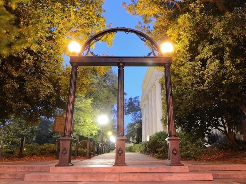 University of Georgia students will get to see the UGA arch in person if in-person instruction resumes as anticipated this fall.