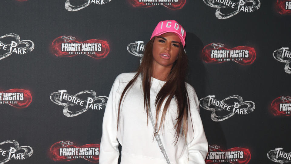 Katie Price has called for social media companies to require photo ID for users. (Photo by Chris Radburn/PA Images via Getty Images)