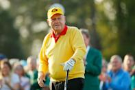 Jack Nicklaus, an 18-time major champion, was part of the most memorable roars at the Masters for defending champion Tiger Woods and three-time winner Phil Mickelson