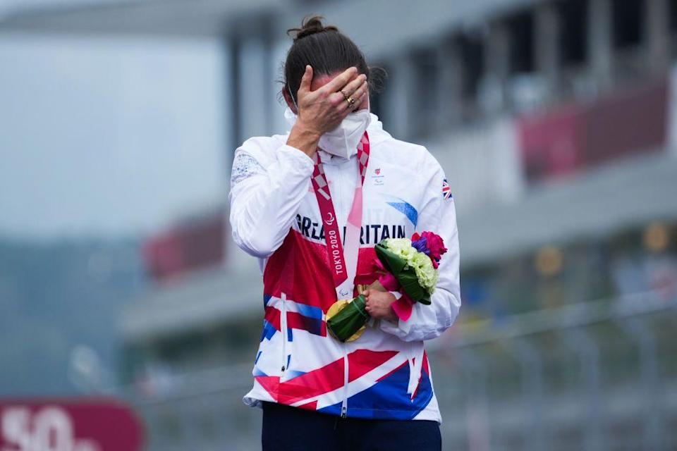 <p>Dame Sarah Storey has won her 17th Paralympic gold medal, making her the most successful British Paralympian in history. Her latest win came in the C4-5 road race with teammate Crystal Lane-Wright taking second place behind her. </p>