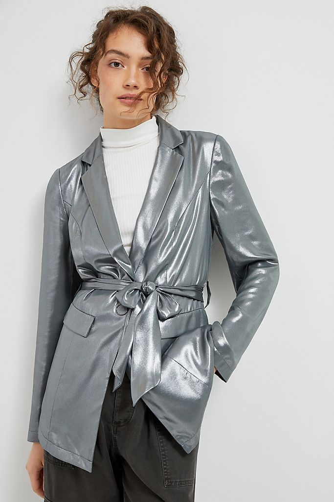 "<strong><h3>Belted Blazers</h3></strong><br><br><strong>Anthropologie</strong> Zada Metallic Blazer, $, available at <a href=""https://go.skimresources.com/?id=30283X879131&url=https%3A%2F%2Fwww.anthropologie.com%2Fshop%2Fzada-metallic-blazer"" rel=""nofollow noopener"" target=""_blank"" data-ylk=""slk:Anthropologie"" class=""link rapid-noclick-resp"">Anthropologie</a>"
