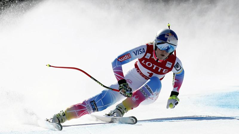 Ester Ledecka wins Olympic super-G title, Lindsey Vonn ties for sixth